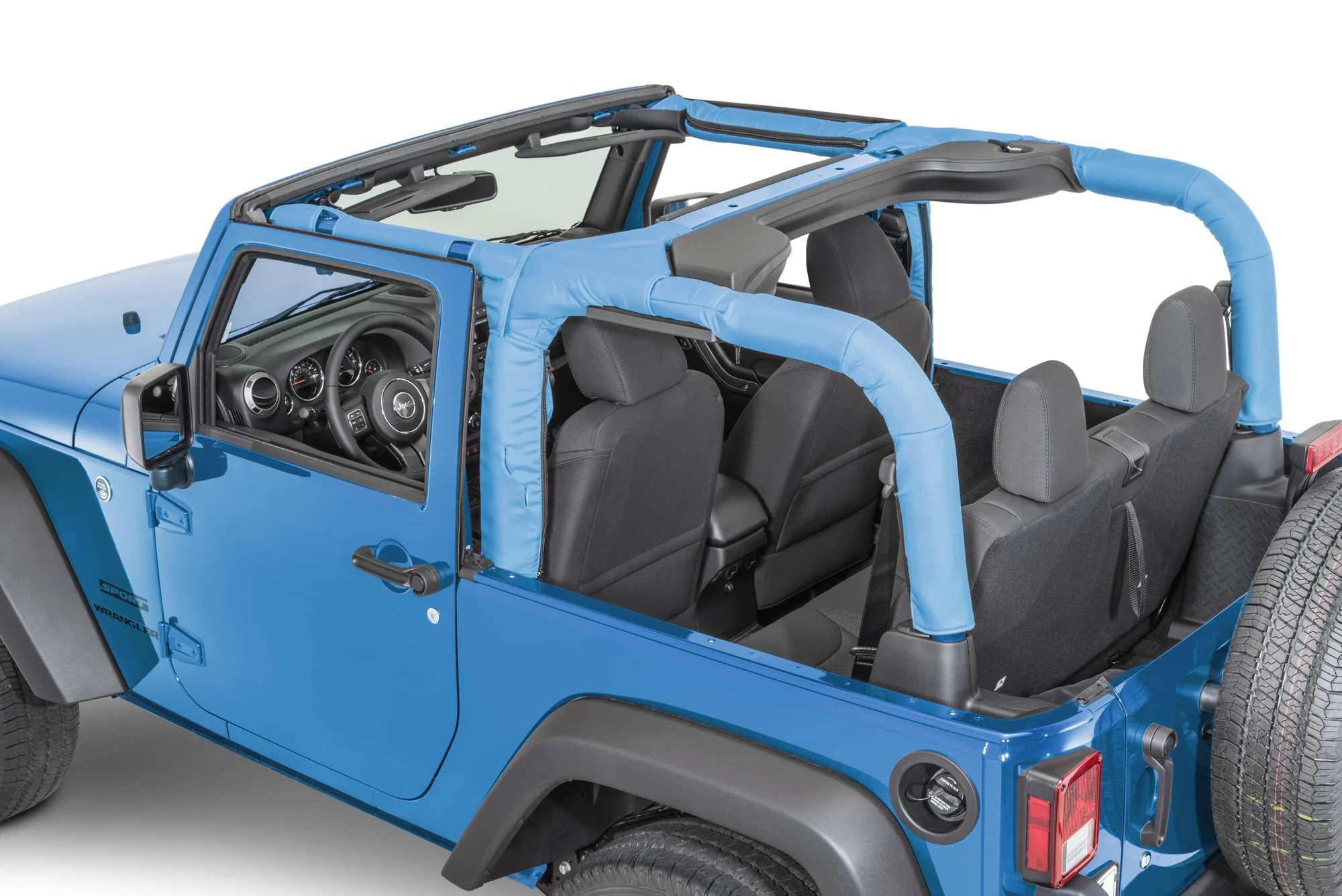 Dirtydog 4X4 Roll Bar Covers For 07 18 Jeep Wrangler JK 2