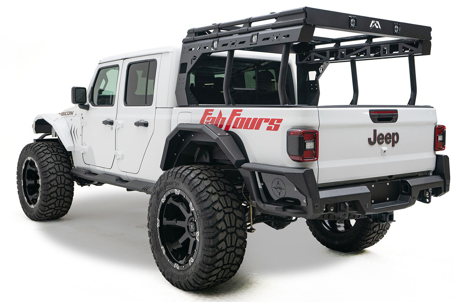 fab fours overland rack for 20 21 jeep gladiator jt