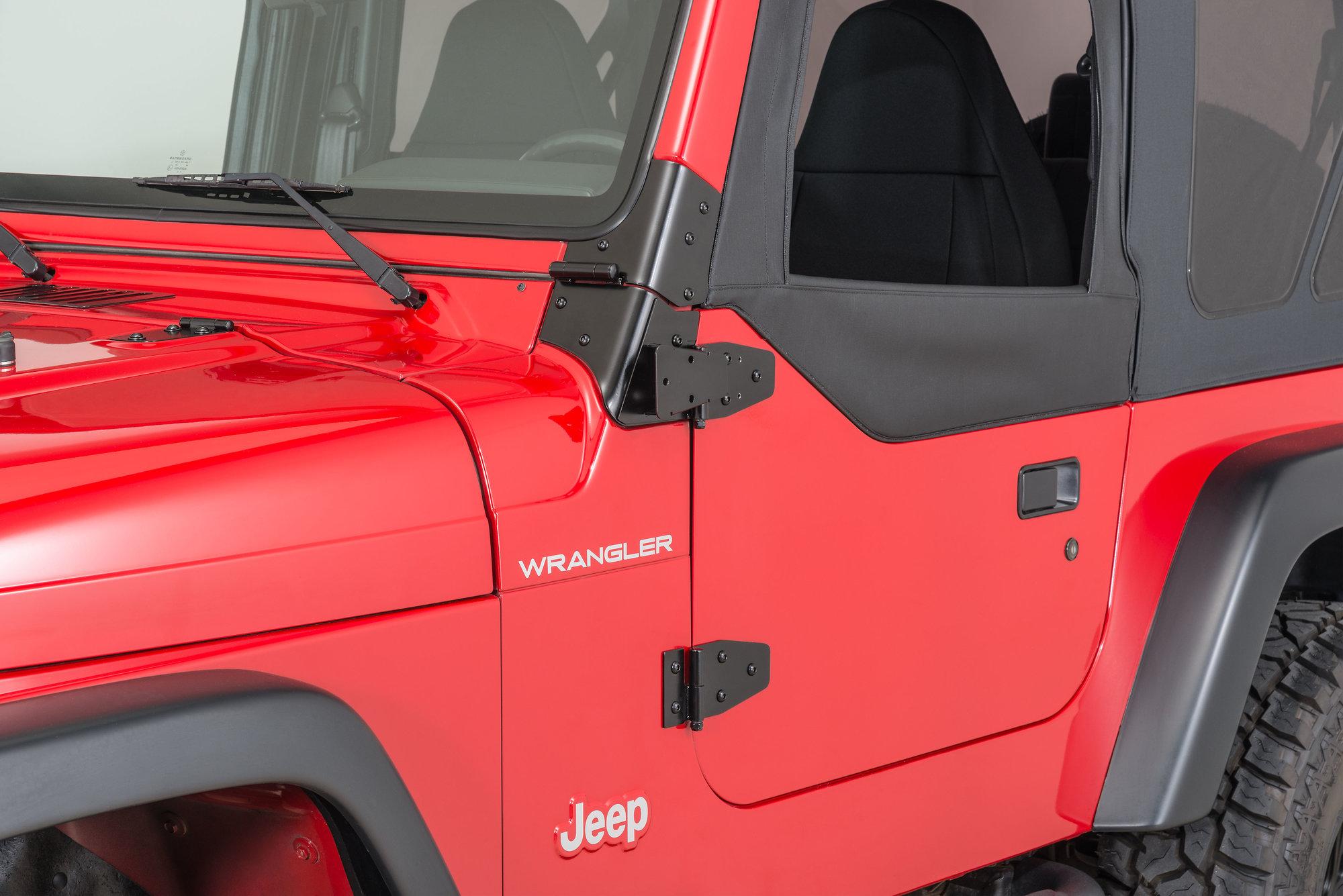 Kentrol Mirror Relocation Brackets For 03 06 Jeep Wrangler