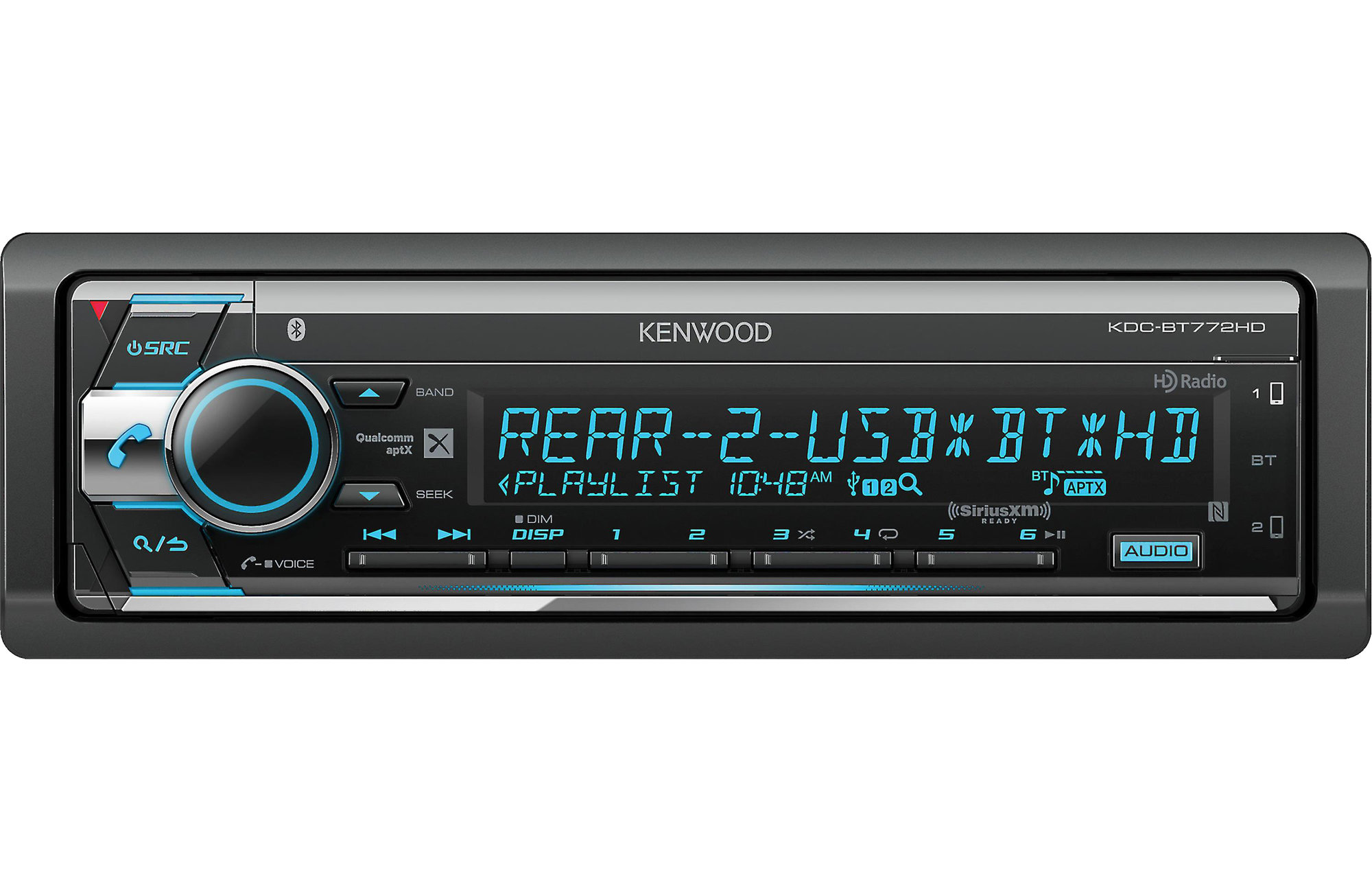 Kenwood Kdc Bt772hd Stereo Receiver With Bluetooth And Hd