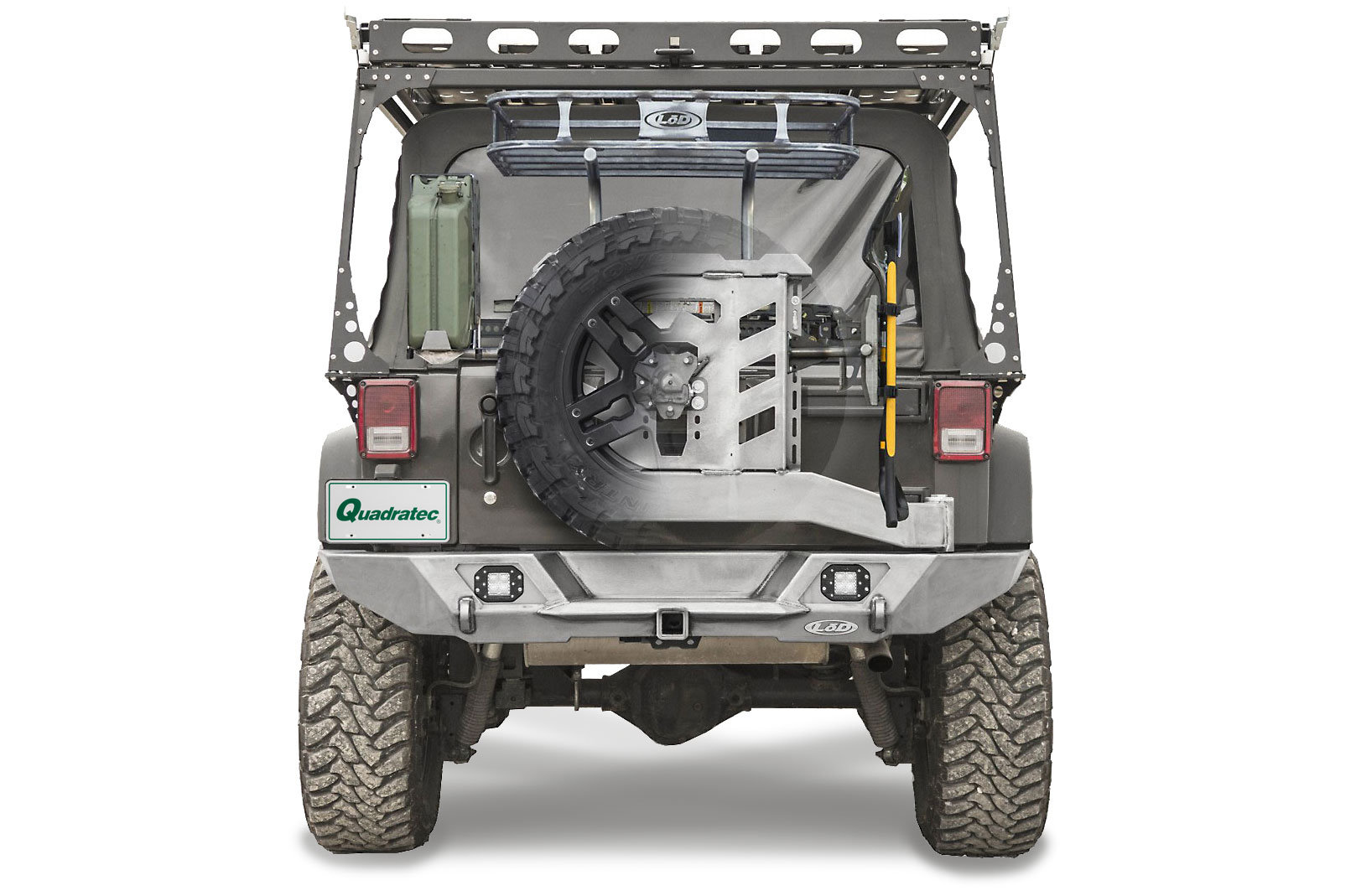 LoD Destroyer Full Width Rear Bumper With Tire Carrier For