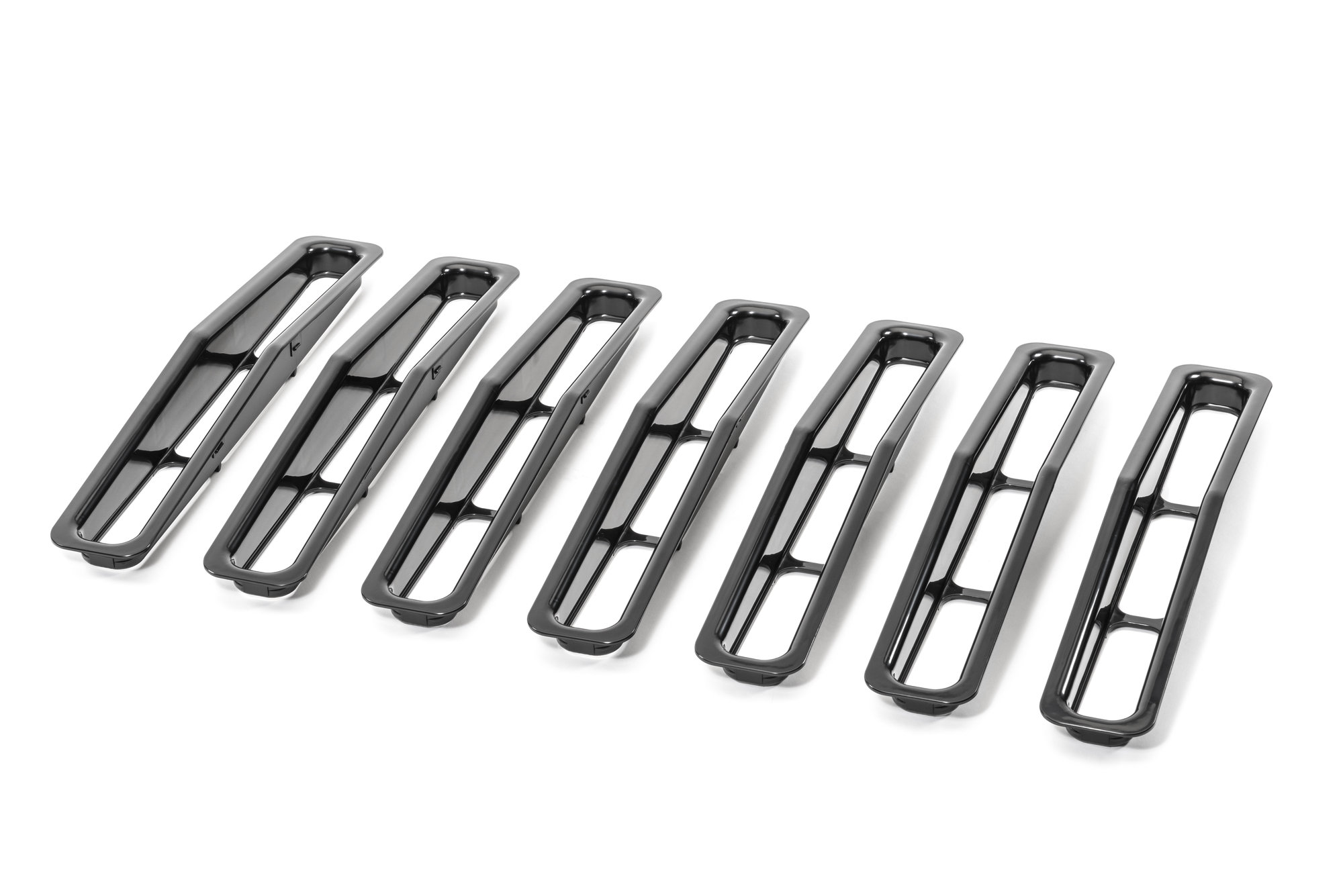 Rugged Ridge Plastic Grill Inserts For 87 95 Jeep Wrangler