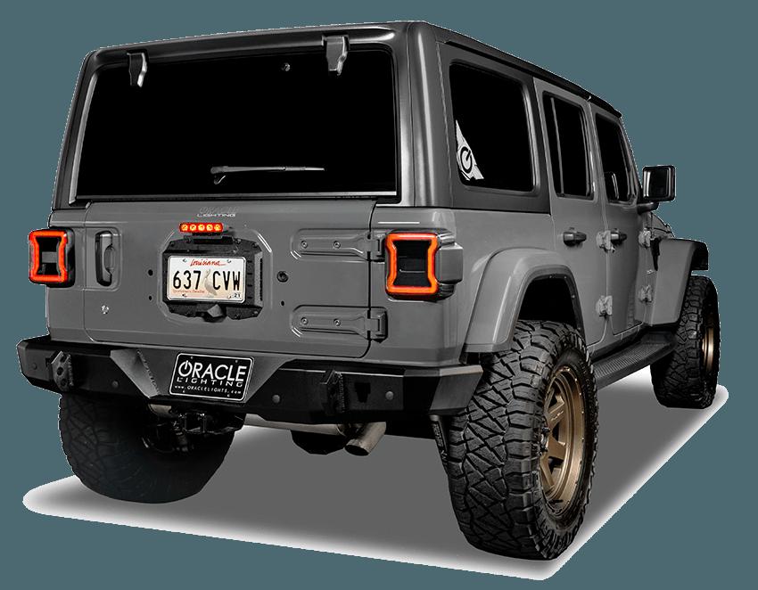oracle lighting 5854 504 smoked led third brake light for 18 20 jeep wrangler jl
