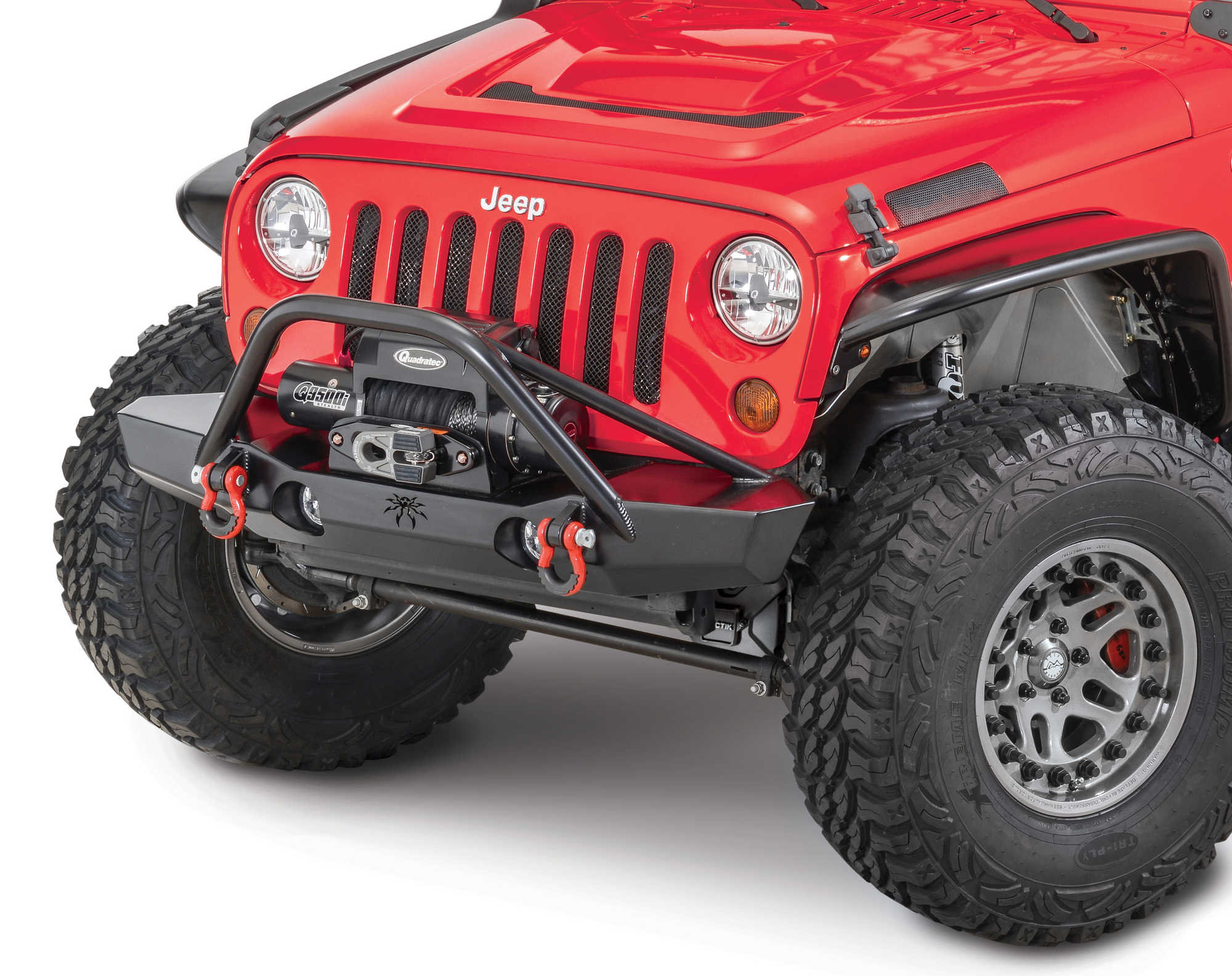 Poison Spyder Brawler Mid Front Bumper With Brawler Bar
