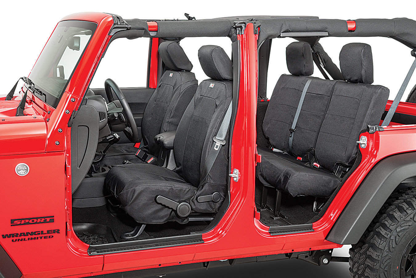 Rugged Ridge Elite Ballistic Front Seat Covers For 07 18