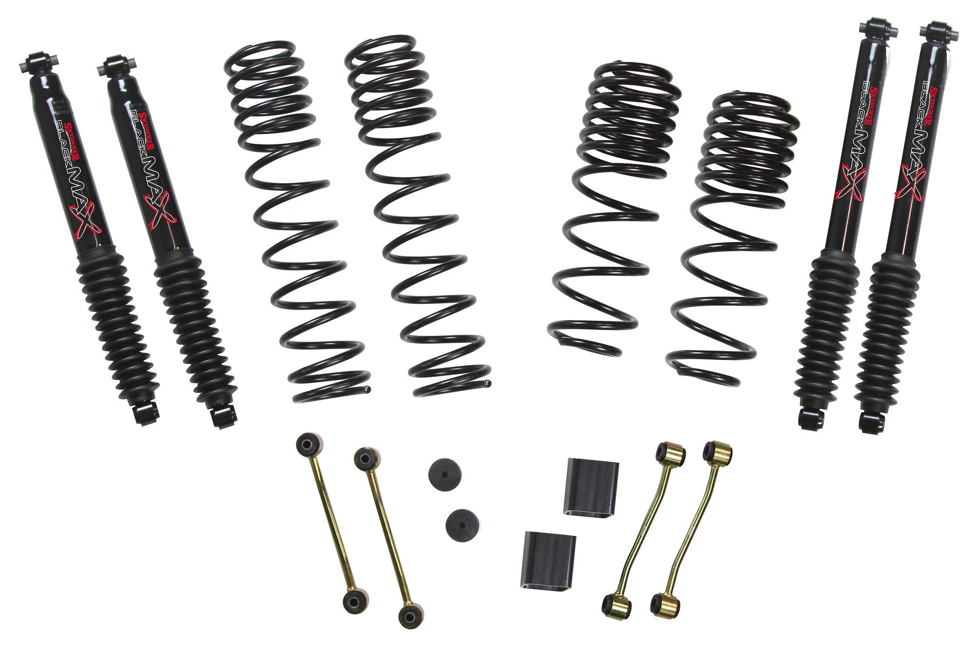 Skyjacker 2 5in Long Travel Lift Kit With Black Max Shocks