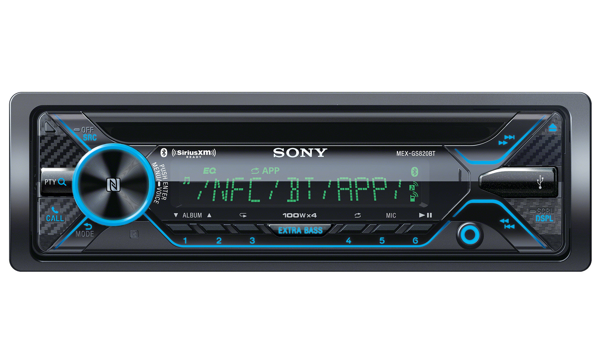 Sony Mex Gs820bt Cd Receiver With Bluetooth