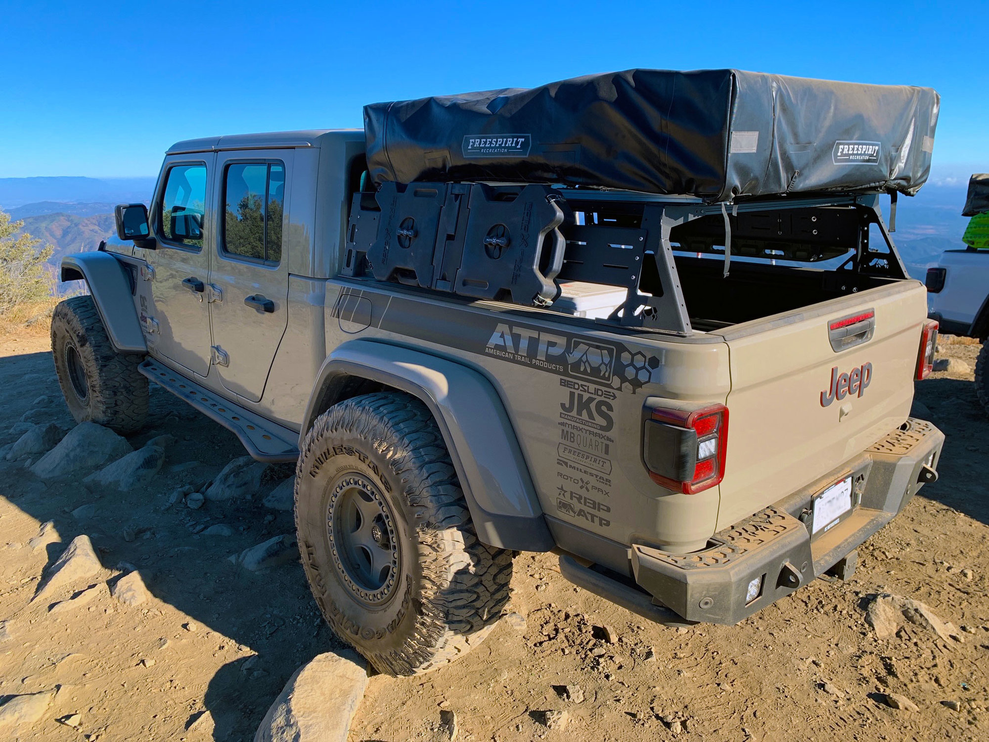american trail products 97190002 adventure bed rack for 20 21 jeep gladiator jt