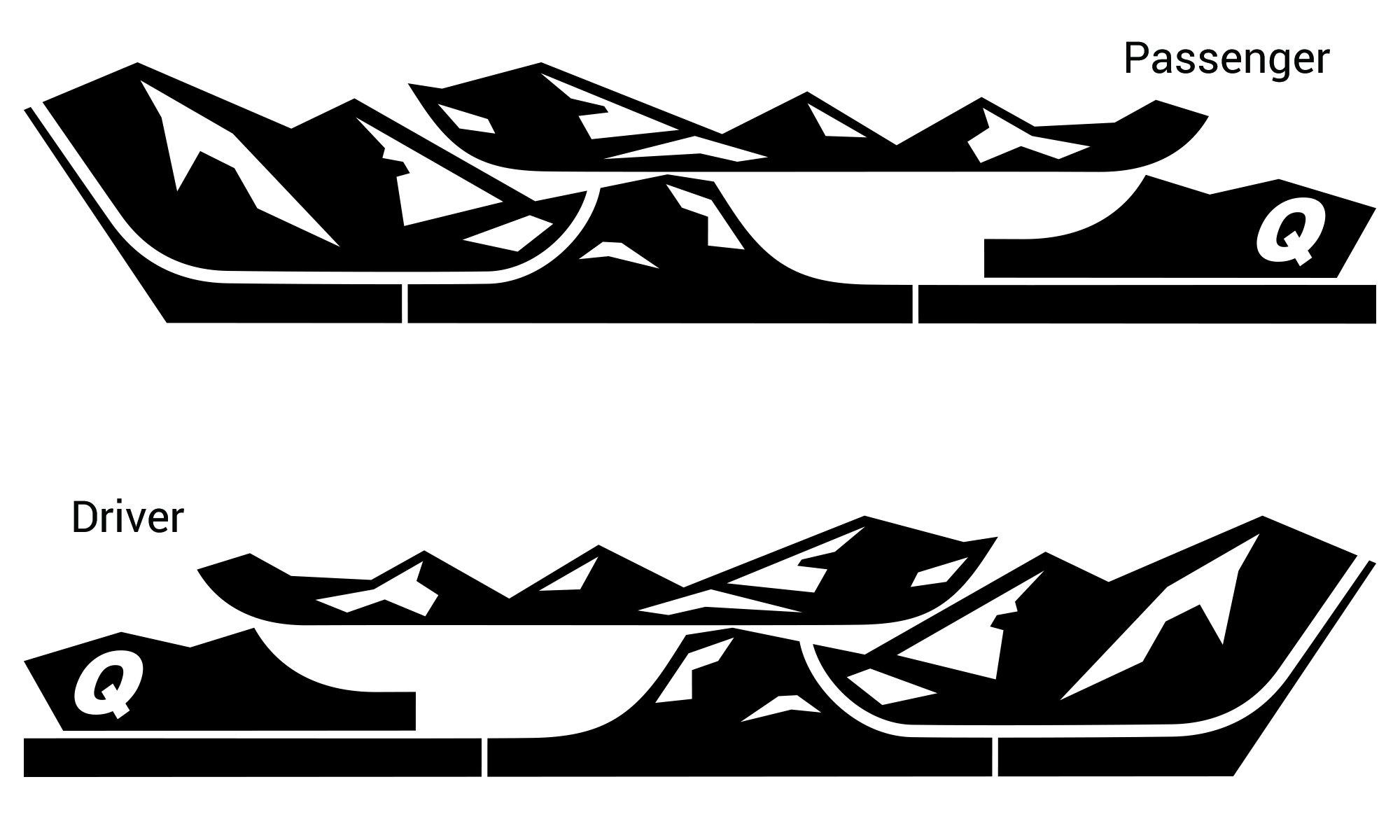 Quadratec Premium Vinyl Rocker Panel Mountain