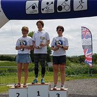 Women podium: J. Ashley, H. Russsel, J. Davies