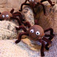 Bastel-Tipp mit Kindern HERBST-SPINNEN, HALLOWEEN Spinnen #DIY #Folia