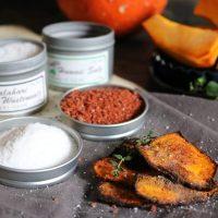 schnelles Rezept für selbstgemachte Kürbis Ofenchips! Gesund und so lecker!