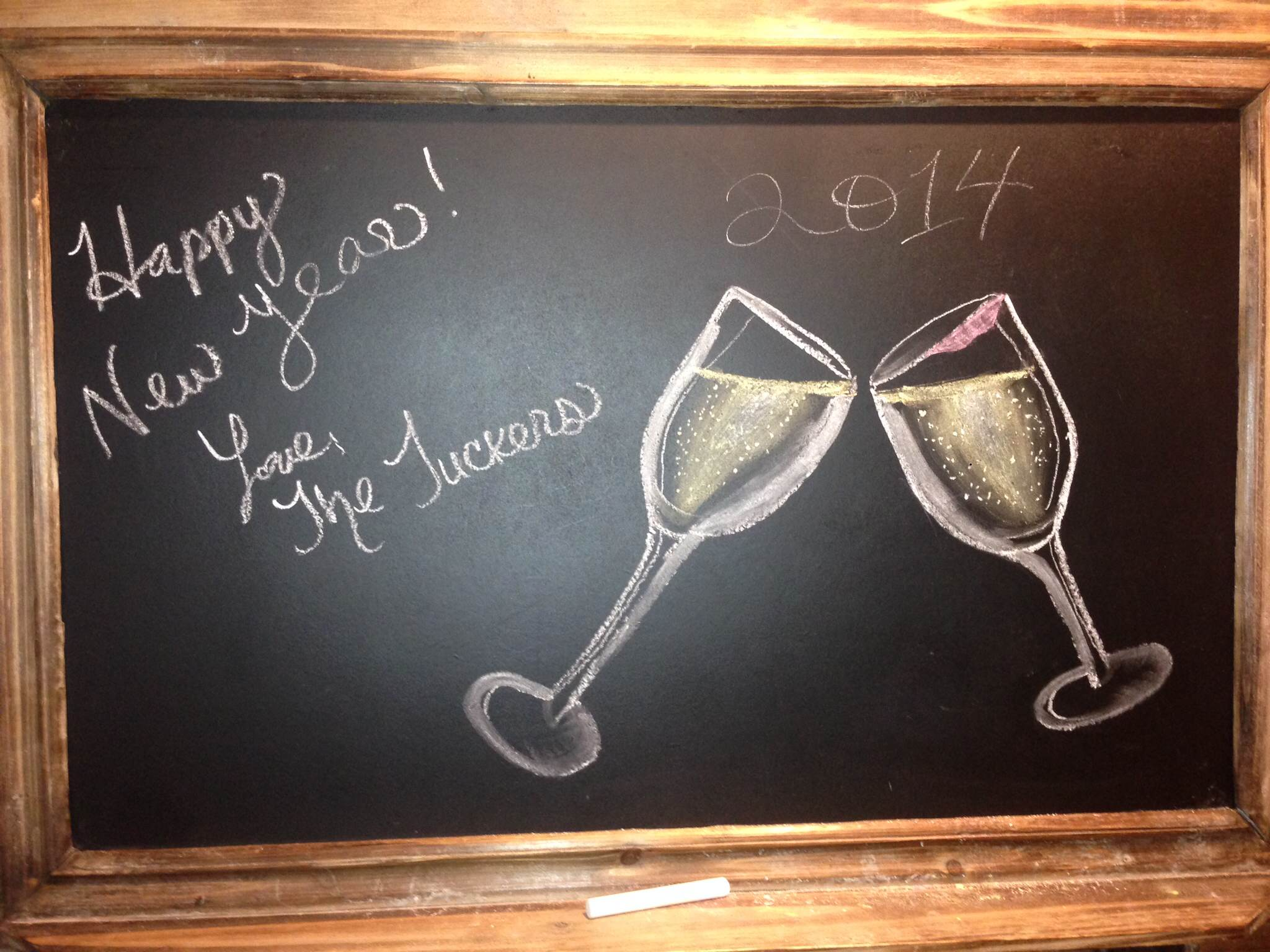 chalk new year drawings