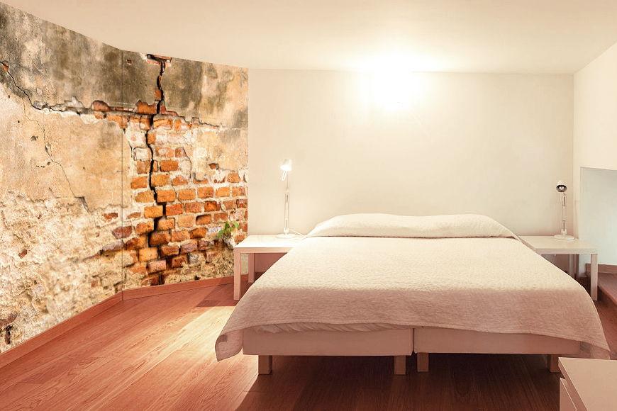 Perché allora non fai della tua camera da letto la tua oasi di benessere? La Carta Da Parati Tnt Muro Di Mattoni Da 120x80cm