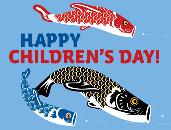 children's day and japan flag