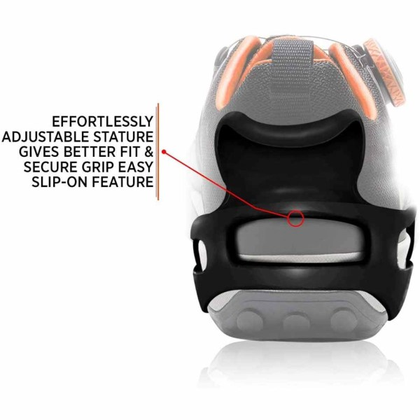 Anti-Slip Gear on Wet Mud Ice and Snow Footbeau Outdoor Adventure Walk Hiking Shoes Traction Cleats