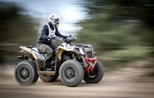 Intensives Training: Highspeed auf dem kilometerlangen Rundkurs.