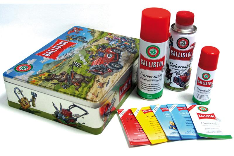 Mit der BALLISTOL-Klavinius-Box gehören SOS-Geschenke ab sofort der Vergangenheit an.