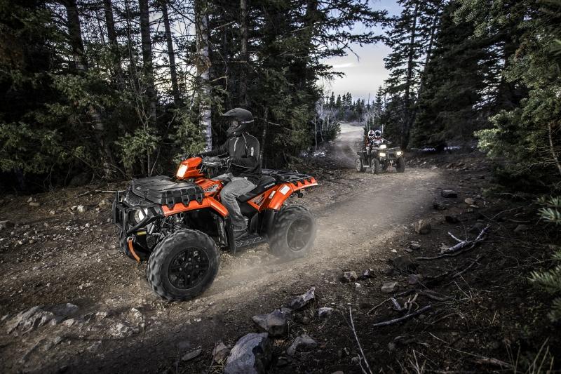 Durch den Wald: fast jeder Weg kann mit dem ATV bewältigt werden.