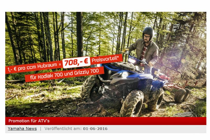 Ab jetzt bis Ende August: Yamaha mit Preisvorteil.