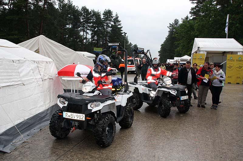 Blick in die Welt der ATVs: Rettungsfahrzeuge auf der KWF-Tagung.