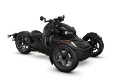 Y-förmige Chassis von Can-Am mit zwei Vorderrädern und einem Hinterrad für erstklassige Stabilität und Bremskraft.