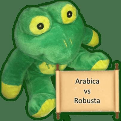 Arabica vs Robusta Frog Q investigates