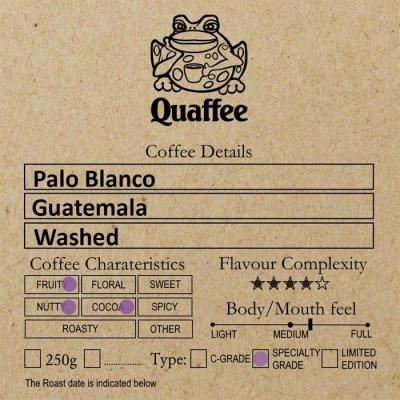 Guatemalan Palo Blanco coffee Quaffee