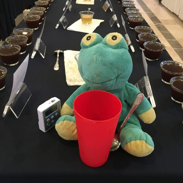 Frog Q at the tasting panel