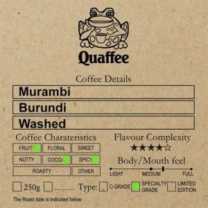 Burundian Murambi Hill Washed