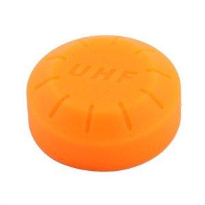 DealMux phase du Concerto de KTV Microphone sans fil de batterie Vis Couvercle Final 30mm Dia orange