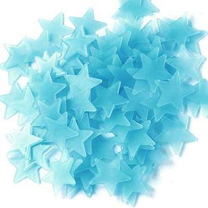 Dpolrs 50Pcs / Set 3cm 3D Glow étoiles Lumineuses fluorescentes Stickers muraux Enfants Stickers muraux Chambre Décoration
