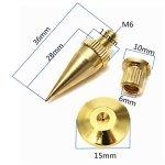 Kenthia M6* 36Haut-parleur Spike Isolation Spike support pied Haut-parleur conique Tampons de base