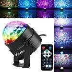 Lampe de Scène pour Disco, Zanflare lumières soirée avec 7 Couleurs RGB Effet Parfait pour Bar, Karaoke, Mariage, Disco, Fête, Club, Halloween, Anniversaire,Noël