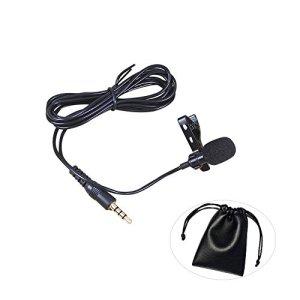 Mini téléphone Microphones Lavalier Microphone Lavalier Micro-cravate Portable pour téléphone portable Convient pour Podcast Audio d'enregistrement des Interviews des conversations en direct chantant