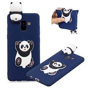 Moiky Coque Housse pour Galaxy A8 Plus 2018,Soft Étui pour Galaxy A8 Plus 2018, Élégant Mignonne 3D Espiègle Panda Conception Premium Flexible Souple Gel TPU Housse