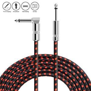 NEUMA Câble de Guitare Electrique 3m, Câble Jack de Basse Instrument 6.3mm Mâle à Mâle pour Amplificateur, Électrique Basse, Clavier, Piano, Guitare
