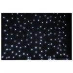 Showtec stardrape lED noir tissu blanc 2 x 3 m inc
