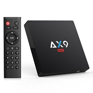 TICTID Android 7.1 TV Box 【2GB RAM+16GB ROM】 AX9 Max TV Box Quad-Core 64bit Wi-FI 2.4G 802.11 b/g/n 100Mbps LAN 4K Android Smart TV Box