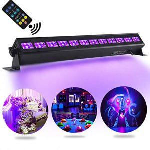 UV Lumière Bar, AONCO 36W Projecteur UV Lumière Violette 12 LEDs , Lampe à Lumière Noire Lampe Wall Washer Éclairage de Scène Parfait pour Club Party Disco KTV