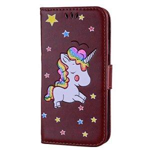 Étui portefeuille à rabat pour Samsung Galaxy avec support pliable pour cartes Samsung Galaxy S8 color one