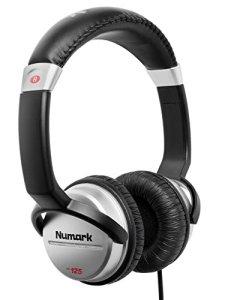 Numark HF125 – Casque Professionnel pour DJ Ultra-Portable avec Câble de 1,8 m, Haut-Parleurs 40 mm pour une Plus Large Plage de Réponse en Fréquence et Design Fermé pour une Isolation Exceptionnelle