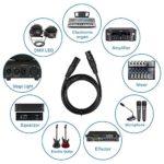 Tomshine 4PCS DMX512 Câbles de lumière, 2M / 6.6FT Câble Adaptateur Stage Câbles avec Signal 3 Broches Mâle à Femelle pour Projecteur avec XLR Entrée et Sortie pour Stage de Lumière DJ