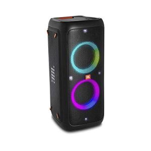 JBL PartyBox 300 – Enceinte Bluetooth portable de soirée avec effets lumineux – Prise USB & entrée jack pour guitare ou micro – Autonomie 18hrs – Noir