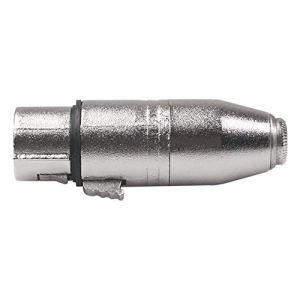 A 3.5 Filetage Interne vers l'adaptateur fileté Interne XLR SA533 avec boîtier d'assemblage en Alliage de Zinc pour mixeur, amplificateur de Puissance, Microphone