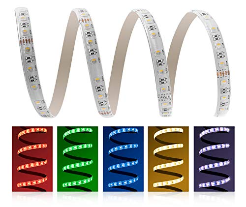 LED Universum 5050 RGBW Bande LED RVB 4 en 1 Protection IP65 RGBWW LED 4 en 1 avec Puce 60 LED/m 5 m