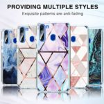 yiyiter A21 Étui pour Samsung Galaxy A21 Coque Soft Silicone Housse TPU Bumper Protecteur Antichoc Cover Marble Design pour Samsung A21 Back Case Protection