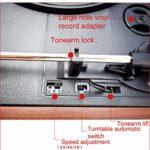 HXwsa Version Pyle Vintage Record Player, Classic Player Vinyle, Retro Turntable, MP3 Vinyle, Musique Edition Logiciel Inclus, Sortie RCA, câble USB, MP3 Converter Accueil,A