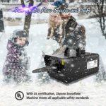Machine à neige, 1byone Snow Machine 650W sans fil et câble télécommande machine à neige extérieure, neige pour Noël/mariage/jardin