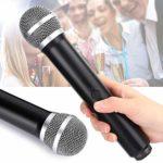 YOUTHINK Microphone sans Fil UHF Double Microphone à Main Micro sans Fil karaoké sans Fil avec récepteur pour TV/Ordinateur/Accessoires informatiques Audio